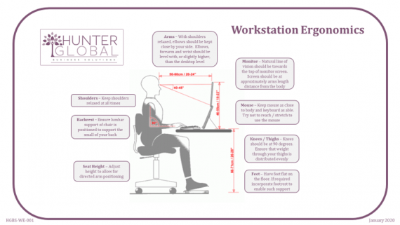 ergonomic workstation diagram